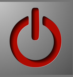 Onoff switch icon power symbol flat design vector
