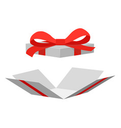 Open gift box surprise vector