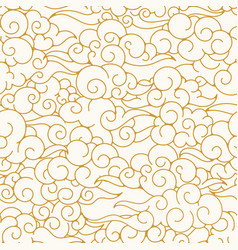 Oriental clouds pattern vector