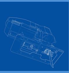 outline jig saw vector image