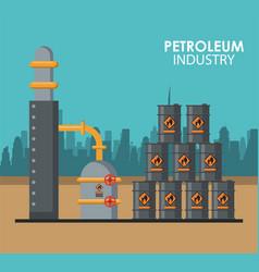 Petroleum industry poster vector