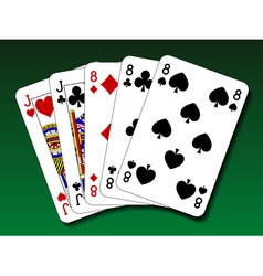 Poker hand - Full house vector