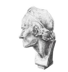 Portrait of voltaire digital pointillism vector