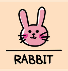 rabbit hand-drawn style vector image