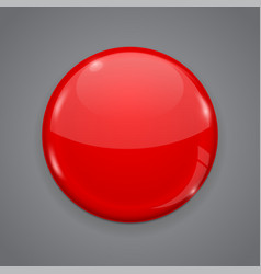 Red web button on gray background round 3d icon vector