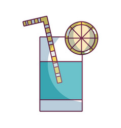 refreshment in bottle glass to drink vector image