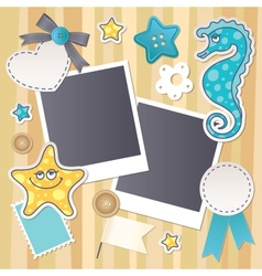 scrapbook set vector image