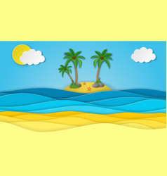 Sea view on clear sky vector