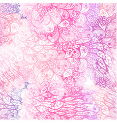 Seamless floral grunge pink and violet pattern vector