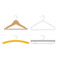 set of different clothes hangers silhouettes vector image