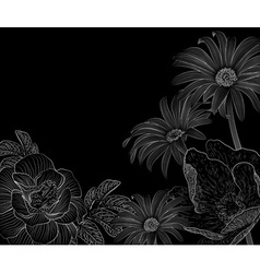 Sketched Floral Background vector