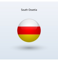 South Ossetia round flag vector