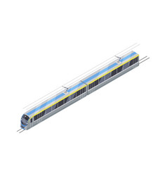 speed train icon in isometric projection vector image