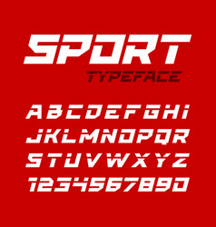 Sport style typeface ideal for headlines titles vector