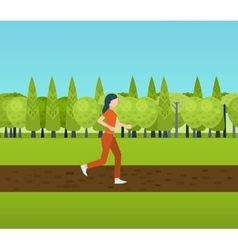 Sport woman run fitness girl jogging vector image