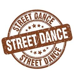 Street dance brown grunge round vintage rubber vector