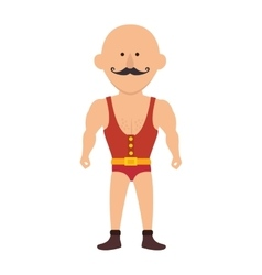 Strong man cartoon circus vector
