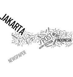 The jakarta post text background word cloud vector