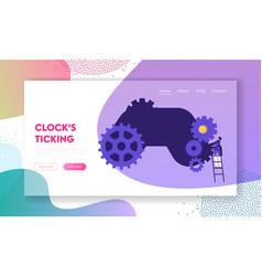 time management idea development concept website vector image