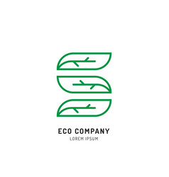 Tree holistic eco logo vector