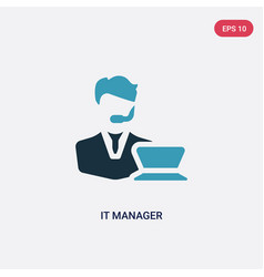 two color it manager icon from professions vector image