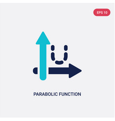 Two color parabolic function icon from education vector
