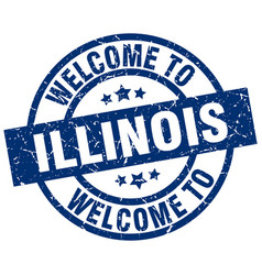 Welcome to illinois blue stamp vector