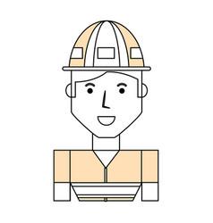 worker profile cartoon vector image