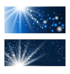 blue shining backdrops vector image