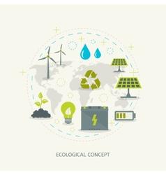 Ecologic renewable energy concept vector image