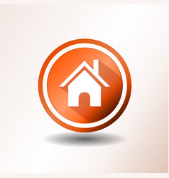 home icon in flat design vector image vector image