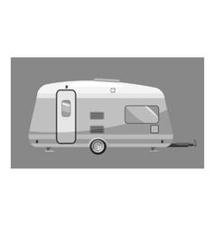 Motorhome icon gray monochrome style vector image vector image