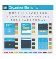 Organizer elements vector image