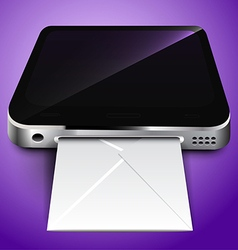 Receiving mail through a mobile device vector image