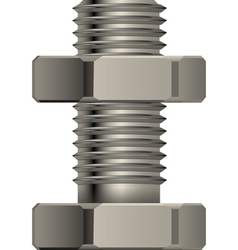 bolt and nut vector image vector image
