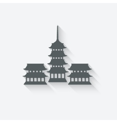Buddhist temple design element vector image