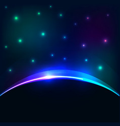 eclipse cosmic sky background Glowing vector image