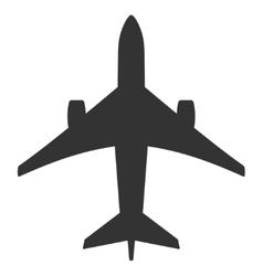 Jet Plane Flat Icon vector image vector image