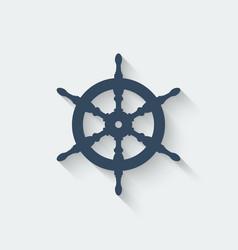 steering wheel design element vector image