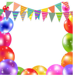 colorful balloon card vector image vector image