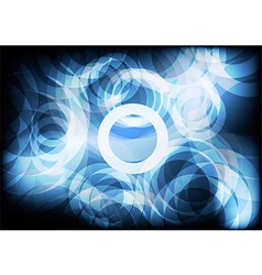 Blue Circle abstract backgrounds vector image vector image