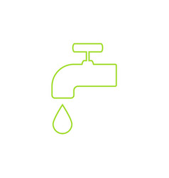 green icon save environment water concept vector image