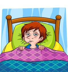 sick person vector image vector image