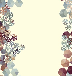 Abstract background border with hexagons vector image
