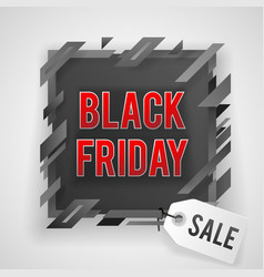 abstract black friday sale tag shop banner vector image
