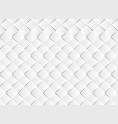 Abstract gradient white square paper cut pattern vector