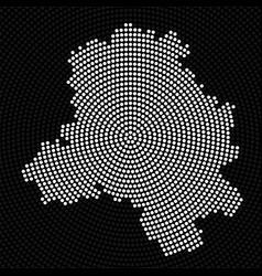 abstract map delhi radial dots halftone vector image