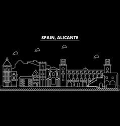 Alicante silhouette skyline spain - alicante vector