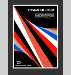 Artwork poster inspired postmodern vector
