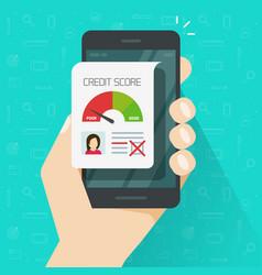 bad credit score online on smartphone vector image
